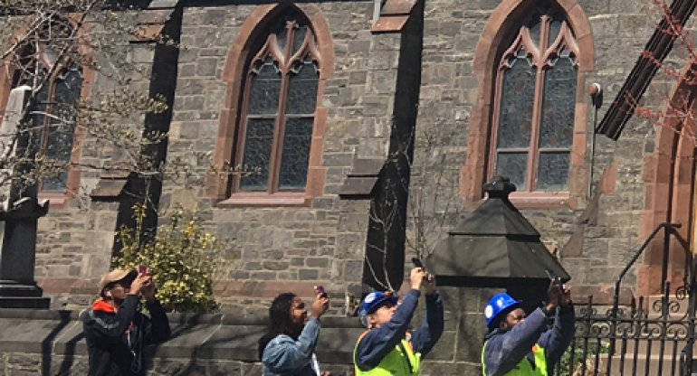 Hawk Puts On Show Outside St. George Church